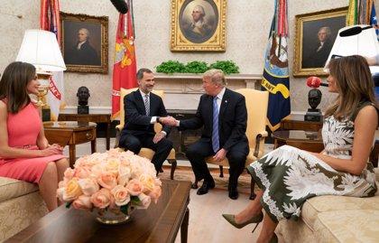 Los Reyes Felipe y Letizia matienen reunión con Donald y Melania Trump frente al COVID19