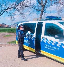 Agente de la Policía Municipal de Pamplona.