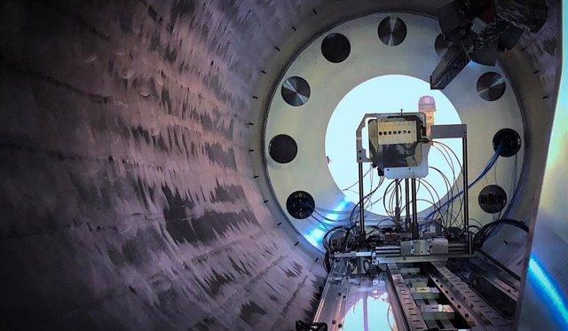 Interior del Espectrómetro Solenoide ISOLDE en el CERN