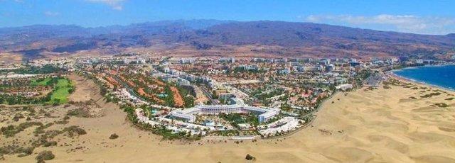 Panorámica de Playa del Inglés (Gran Canaria)