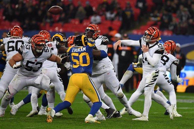 Partido en Londres entre los Cincinnati Bengals y Los Angeles Rams de la NFL 2019