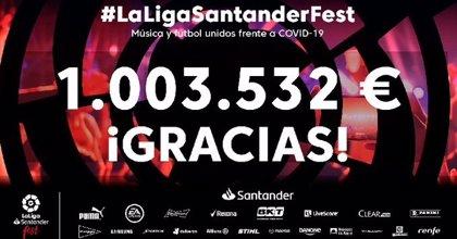 LaLigaSantander Fest recauda un millón para luchar contra el coronavirus