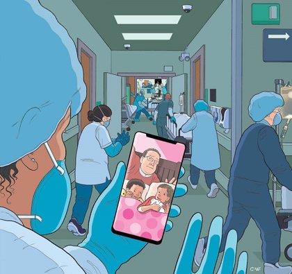 La revista 'New Yorker' ilustra su portada de abril con un homenaje a los héroes de la pandemia, el personal médico