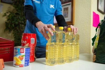 La Caixa impulsa una campaña para recaudar fondos y alimentos para familias vulnerables