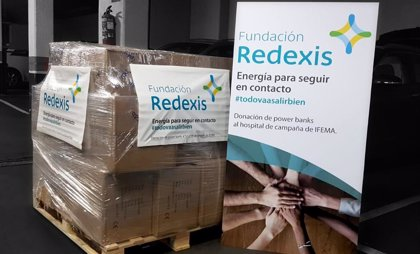 Fundación Redexis dona baterías portátiles a los pacientes ingresados en el hospital de campaña de IFEMA