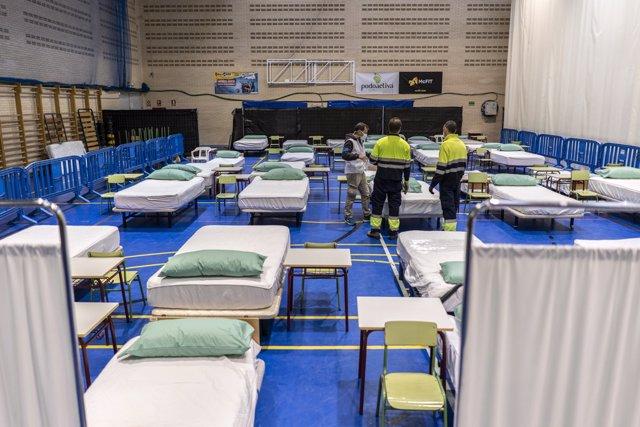 Imagen de recurso del hospital de campaña en Leganés.