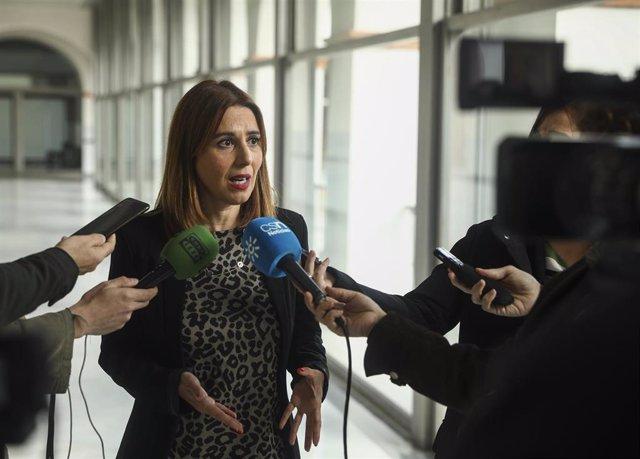 La portavoz de Educación del PSOE-A, Beatriz Rubiño, en una imagen de archivo.
