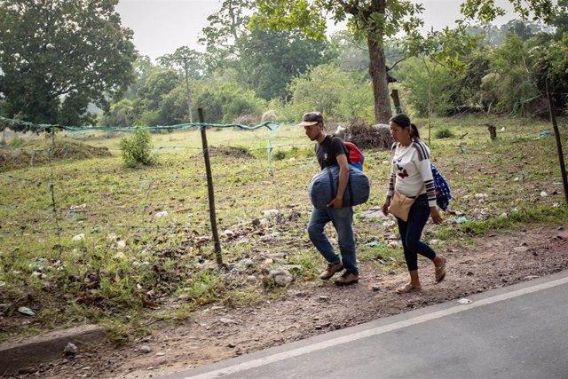 Migrantes venezolanos en Colombia (Imagen de archivo)