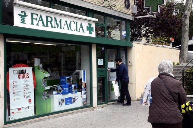 Farmacia durante estado de alarma. Archivo