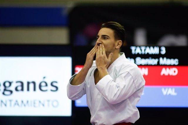 El karateca español Damián Quintero durante los pasados Campeonatos de España