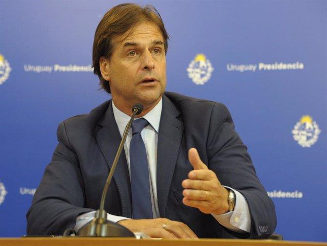 El presidente de Uruguay, Luis Lacalle Pou