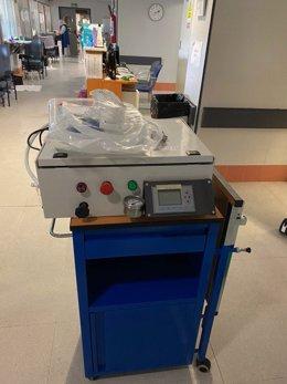 Prototipo del respirador usado con un paciente en Antequera (Málaga)