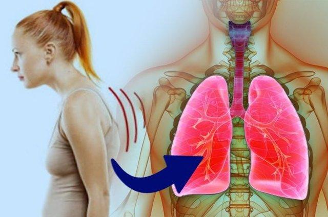 Conoce la relación entre la postura corporal y la capacidad respiratoria