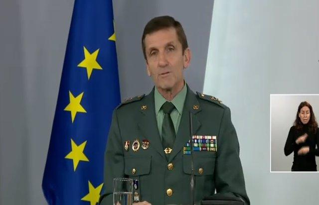 Rueda de prensa del jefe del Estado Mayor de la Guardia Civil, general José Manuel Santiago