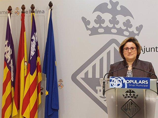 La portavoz del PP en el Ayuntamiento de Palma, Mercedes Celeste.