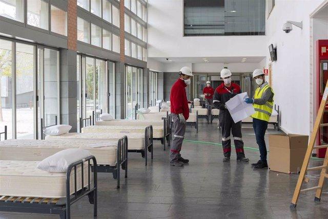 Eiffage Energía está coordinando con el Complejo Hospitalario Universitario de Albacete el diseño, implantación y ejecución de las instalaciones que se pondrán en marcha a modo hospital de campaña en la Facultad de Medicina