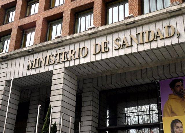 Edificio del Ministerio de Sanidad, Política Social e Igualdad ubicado en el Paseo del Prado, en Madrid (España), a 2 de marzo de 2020.