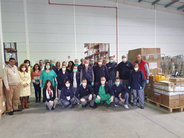 Equipo de profesionales que trabaja en la Plataforma Sanitaria de Córdoba