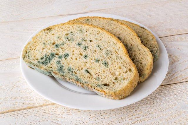 Pan con moho.