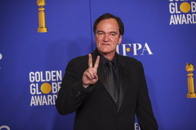January 5, 2019 - Beverly Hills, California, United States: Quentin Tarantino in the photo deadline room at the 77th Golden Globe Awards at the Beverly Hilton on January 05, 2020  (Allen J. Schaben / Los Angeles Times / Contacto)