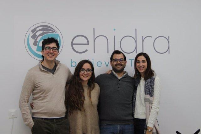 El equipo de eHidra en su sede en la localidad de Puente Genil