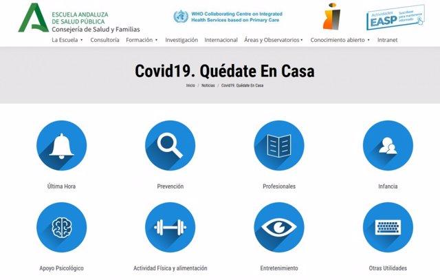 Portal Recursos COVID-19 para profesionales y ciudadanía. Https://www.Easp.Es/coronavirus-easp/