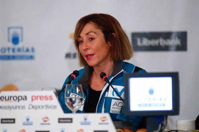 La responsable de Mujer y Nieve de la RFEDI, Paula Fernandez-Ochoa, en los Desayunos Deportivos de Europa Press