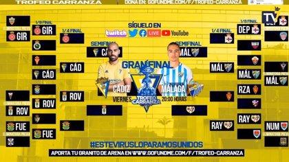 Cádiz y Málaga jugarán la final del Trofeo Carranza de eSports