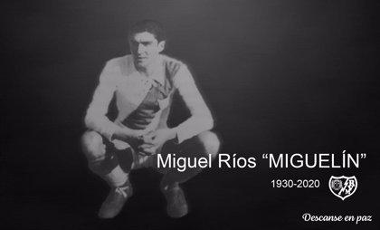 Fallece con 89 años 'Miguelín' Ríos, lateral izquierdo del Rayo Vallecano