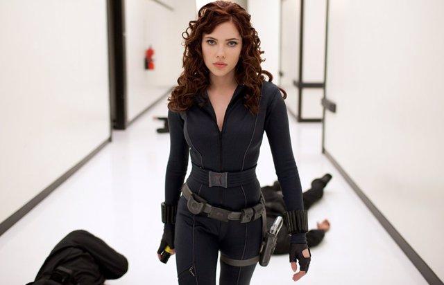 Scarlett Johansson en Iron Man 2 como Viuda Negra