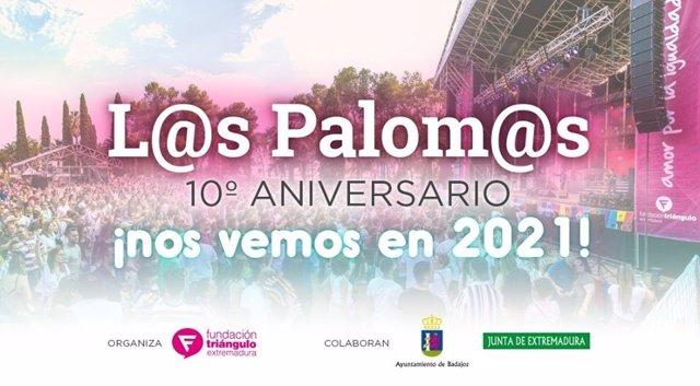 Anuncio del retraso de la fiesta de Los Palomos de Badajoz a 2021