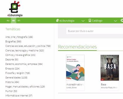 El confinamiento cuadruplica la demanda de préstamos de libros digitales de eLiburutegia