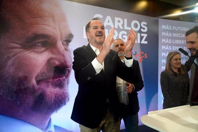 El candidato a lehendakari de la coalición PP+C's, Carlos Iturgaiz, en el acto de de presentación de su candidatura a lehendakari, en Santurce (Vizcaya/País Vasco/Euskadi) a 07 de marzo de 2020.