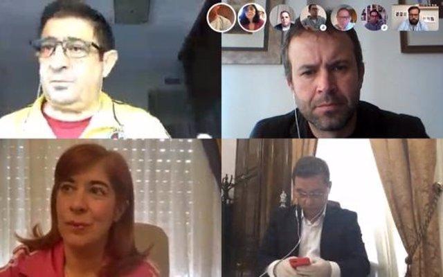 Reunión telemática con los responsables socialistas en los seis municipios mayores de la provincia
