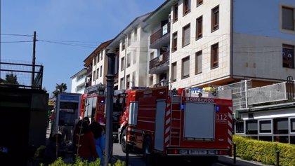 Extinguido un incendio en un piso de Liérganes donde había dos menores