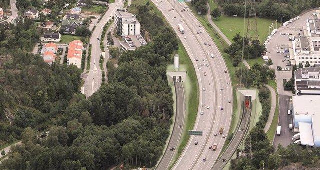 Accesos a la autopista E4 en Estocolmo construidos por Comsa