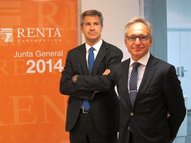 El pte de Renta Corporación Luis Hernández y el consejero delegado David Vila