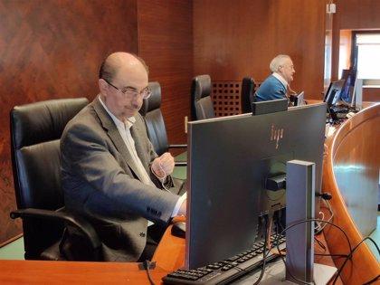 El Gobierno de Aragón informará a las Cortes por vía telemática desde el próximo martes