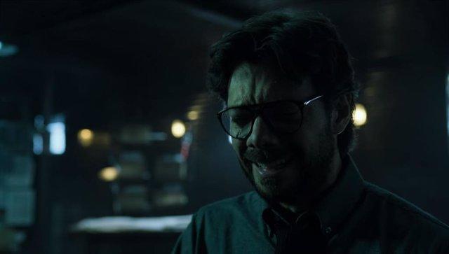 El profesor, en una escena de la cuarta temporada de La Casa de Papel