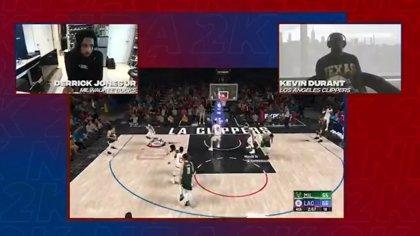 Derrick Jones Jr. elimina a Kevin Durant en el estreno del torneo de NBA 2K