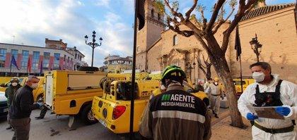 La UDIF desinfectan lugares públicos de la Región de Murcia