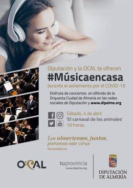 Diputación y OCAL ofrecen '#Músicaencasa'