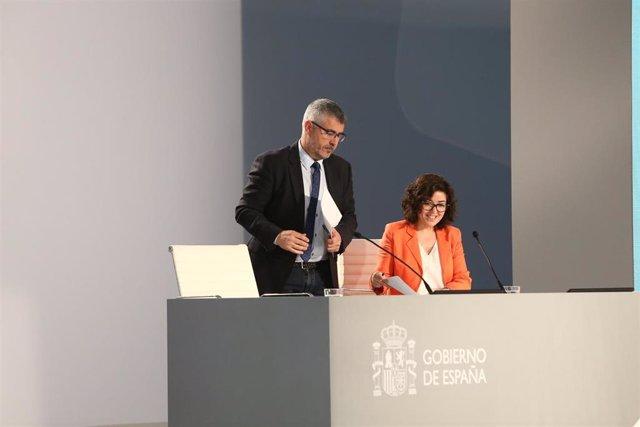 Rueda de prensa del secretario de Estado de Comunicación, Miguel Ángel Oliver,  con motivo de las elecciones generales del 28 de abril de 2019
