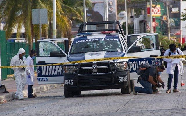 Imagen de policías en México.