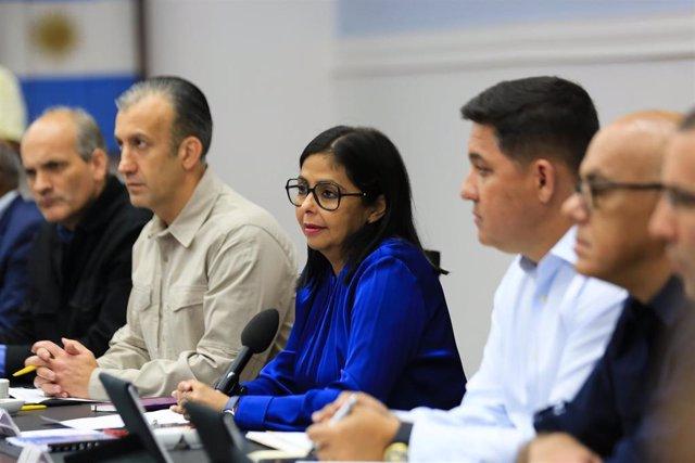 Imagen de la vicepresidenta de Venezuela, Delcy Rodríguez.