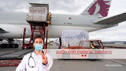 Llega hoy el segundo avión de China con 82 toneladas de material y 228 camas compradas por la Comunidad