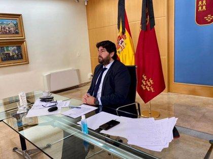 López Miras traslada a Sánchez su apoyo a la extensión del Estado de Alarma