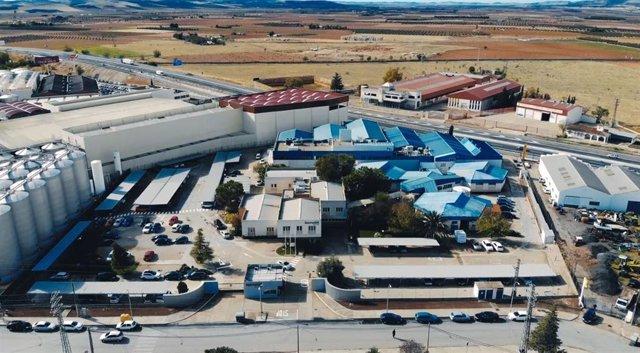 Vista aérea de Tecnobit, en Valdepeñas.
