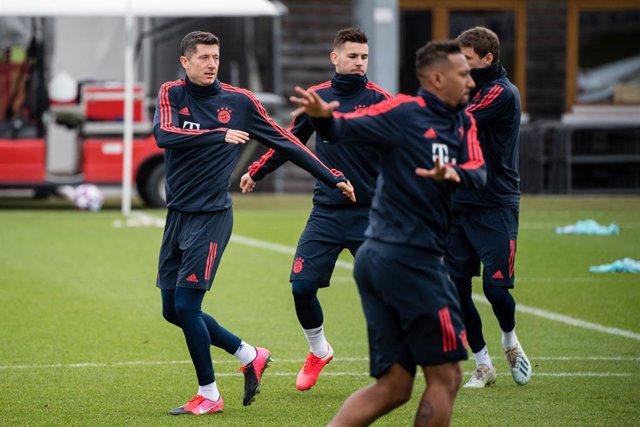 Fútbol.- El Bayern Múnich reanudará este lunes los entrenamientos en grupos de c
