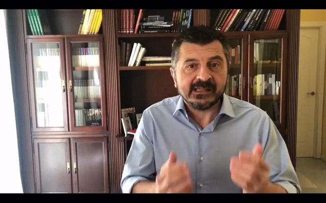 Toni Martín en el vídeo difundido este domingo